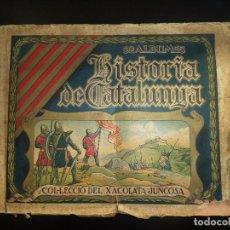Coleccionismo Álbumes: ALBUM DE CROMOS HISTORIA DE CATALUNYA. Lote 72852939