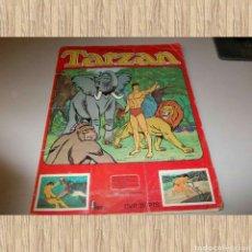 Coleccionismo Álbumes: TARZÁN DE LA SERIE DE T.V.. FHER 1979. CONTIENE 113 DE 270 CROMOS. MUCHOS CROMOS ARRANCADOS. Lote 73605835