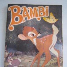 Coleccionismo Álbumes: ALBUM DE CROMOS BAMBI WALT DISNEY EDITORIAL FHER IINCOMPLETO FALTAN 16 CROMOS CON EL POSTER CENTRAL!. Lote 74313895