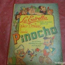 Coleccionismo Álbumes: ALBUM DE CROMOS PINOCHO DE WALT DISNEY - CHOCOLATE LA ESTRELLA CUBA AÑOS 50 CROMO FALTAN 99. Lote 76209327