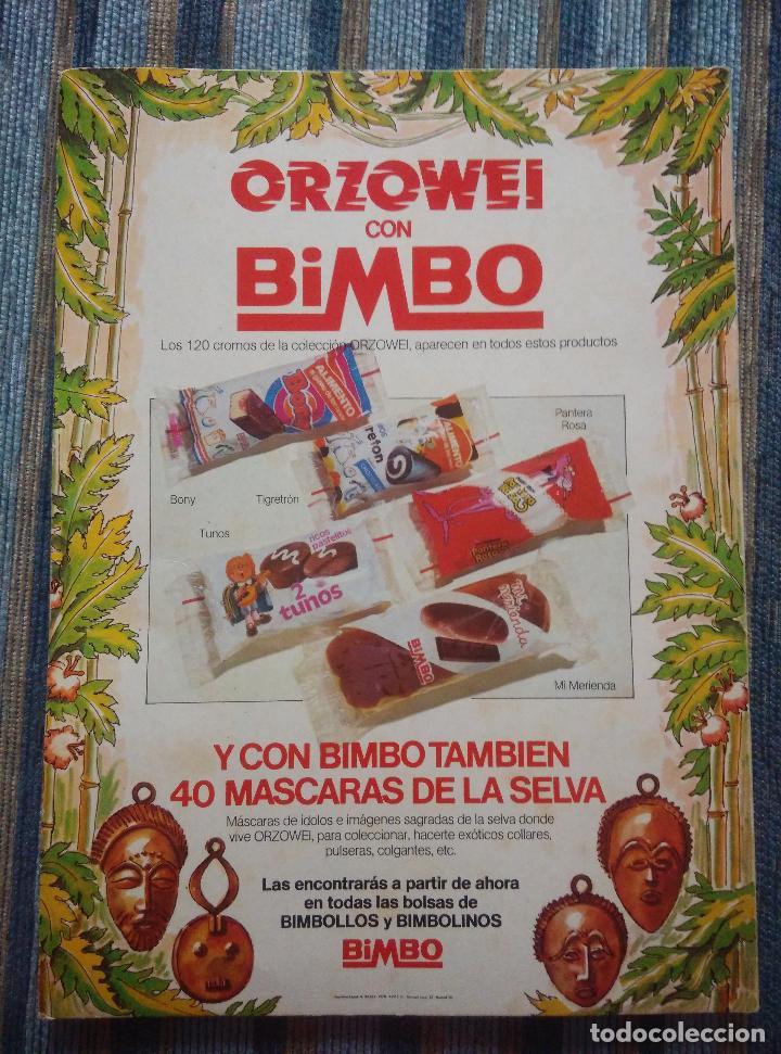 Coleccionismo Álbumes: ALBUM DE CROMOS ORZOWEI (VACIO) - (BIMBO 1978) - Foto 2 - 77510117