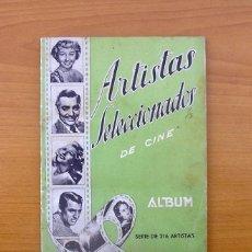 Coleccionismo Álbumes: ÁLBUM ARTISTAS SELECCIONADOS DE CINE - EDITORIAL FERCA AÑOS 50 - VER LAS FOTOS DEL INTERIOR . Lote 77873353