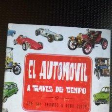 Coleccionismo Álbumes: ALBUM EL AUTOMOVIL A TRAVES DEL TIEMPO - EDT. RAKER 1965 (A-02). Lote 79142565