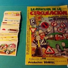 Coleccionismo Álbumes: ALBUM LA AVENTURA DE LA CIRCULACIÓN CON 71 CROMOS PARA PEGAR EDICIONES ESTE. Lote 79774633