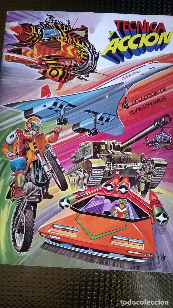 ALBUM TECNICA Y ACCION - EDC. ESTE 1980 - SOLO FALTAN LOS Nº 104 Y 188 ( A-02) (Coleccionismo - Cromos y Álbumes - Álbumes Incompletos)