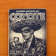 Coleccionismo Álbumes: ÁLBUM FICHERO-ARCHIVO EL COYOTE - EDIC. CLIPER 1946 - A FALTA DEL CROMO 164-VER FOTOS EN EL INTERIOR. Lote 80627210