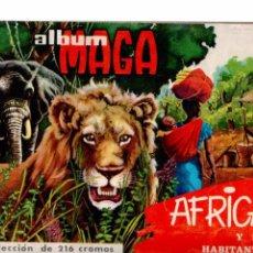 Coleccionismo Álbumes: AFRICA Y SUS HABITANTES.- EDITORIAL MAGA.- AÑO 1965.- ALBUM CASI COMPLETO . Lote 81607636
