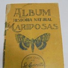 Coleccionismo Álbumes: RARISIMO ALBUM HISTORIA NATURAL. MARIPOSAS. CUBA, CHOCOLATES LA ESTRELLA Y BAGUER. FALTAN 30 CROMOS.. Lote 81738920