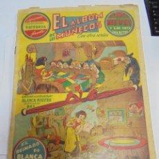 Coleccionismo Álbumes: EL ALBUM DE LOS MUÑECOS. CON DOS SERIES. BLANCANIEVES Y LOS SIETE ENANITOS. COLECCIONES VICTORIA. Lote 81743760