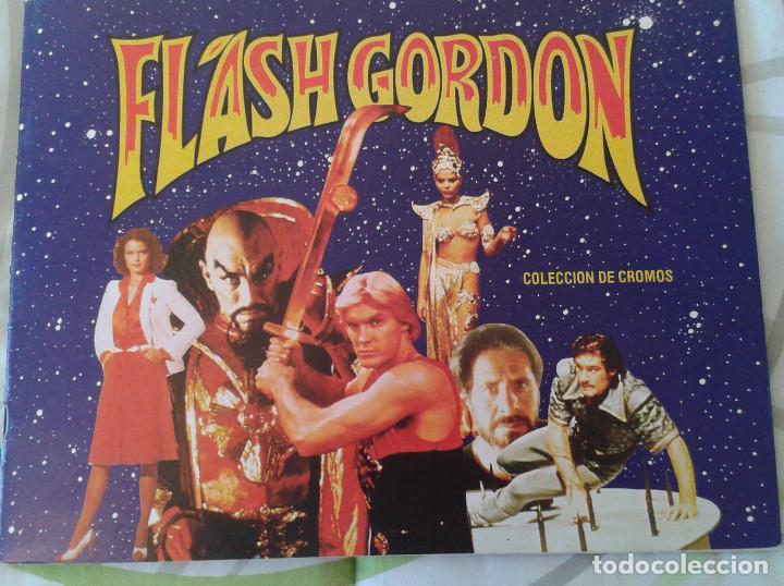 ALBUM DE CROMOS FLASH GORDON // COMPLETO // TOTALMENTE NUEVO E IMPECABLE (Coleccionismo - Cromos y Álbumes - Álbumes Incompletos)