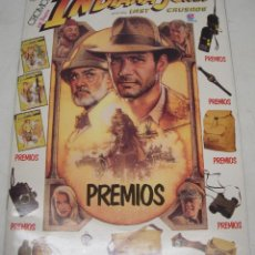 Coleccionismo Álbumes: ALBUM CROMOS INDIANA JONES Y LA ULTIMA CRUZADA,AND THE LAST CRUSADE CELDITOR 1989 CON 69 CROMOS. Lote 83527418