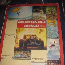 Coleccionismo Álbumes: CARPETA ALBUM CROMOS AMANTES DEL RIESGO . TELE INDISCRETA 10 CROMO. Lote 83718504