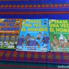 Coleccionismo Álbumes: ÉRASE UNA VEZ EL HOMBRE FASCÍCULO 1, 2, 3 Y 4 INCOMPLETO. PANRICO 1978. MUY RAROS.. Lote 83807404