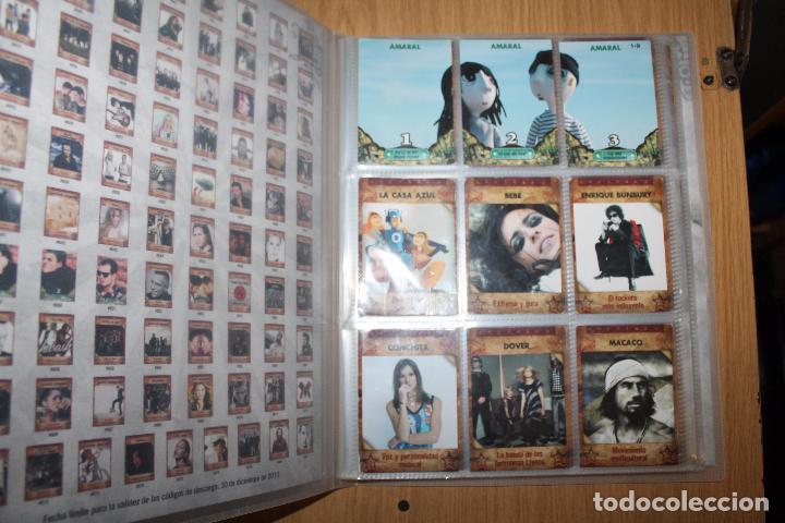 Coleccionismo Álbumes: MUSICARDS - ÁLBUM INCOMPLETO - PANINI - Foto 2 - 47100465