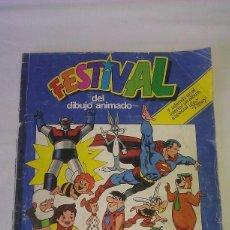 Coleccionismo Álbumes: ÁLBUM DE CROMOS FESTIVAL DEL DIBUJO ANIMADO + FESTIVAL WALT DISNEY - PACOSA DOS 1981 - *LEER* -. Lote 84173680