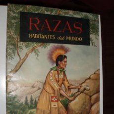 Coleccionismo Álbumes: ALBUM NUEVO VACIO RAZAS HABITANTES DEL MUNDO,FERCA,. Lote 84985004