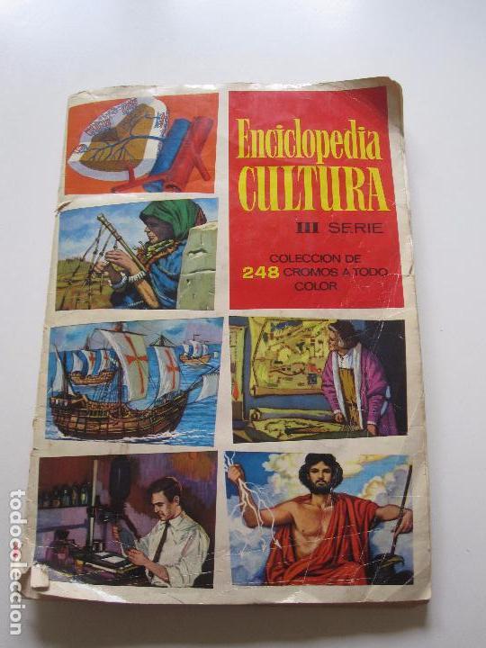 ALBUM CROMOS - ENCICLOPEDIA CULTURA - III SERIE CASI COMPLETO FALTAN 4 CROMOS CHOCOLATES GLUKI (Coleccionismo - Cromos y Álbumes - Álbumes Incompletos)