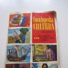 Coleccionismo Álbumes: ALBUM CROMOS - ENCICLOPEDIA CULTURA - III SERIE CASI COMPLETO FALTAN 4 CROMOS CHOCOLATES GLUKI. Lote 85330004