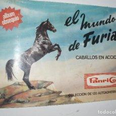 Coleccionismo Álbumes: ALBUM PANRICO EL MUNDO DE FURIA,CABALLOS SOLO FALTAN 10 CROMOS. Lote 39668595