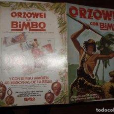 Coleccionismo Álbumes: ALBUM ORZOWEI ,BIMBO, MAL ESTADO,VACIO. Lote 86515344