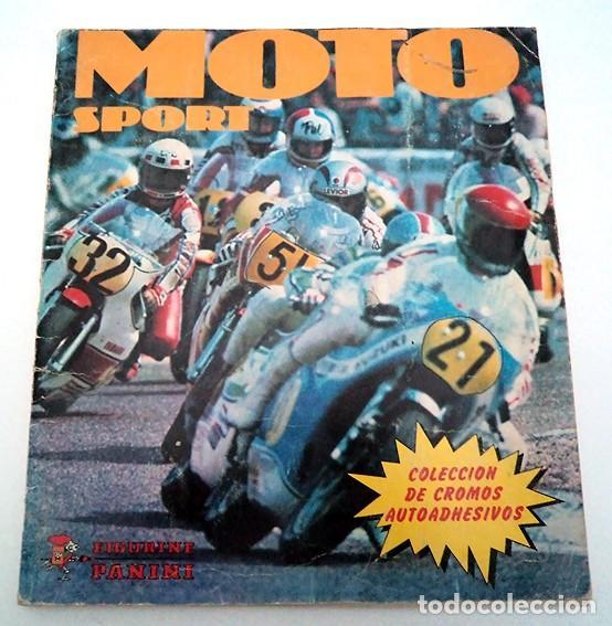 ALBUM 1980 MOTO SPORT PANINI CON 305 CROMOS ESCUDOS PILOTOS MOTOS MARCAS CIRCUITOS. FALTAN POCOS (Coleccionismo - Cromos y Álbumes - Álbumes Incompletos)