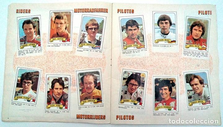 Coleccionismo Álbumes: album 1980 Moto Sport Panini Con 305 cromos Escudos pilotos motos marcas circuitos. Faltan pocos - Foto 4 - 86856356