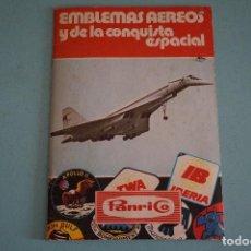 Coleccionismo Álbumes: ÁLBUM INCOMPLETO DE EMBLEMAS AEREOS Y DE LA CONQUISTA ESPACIAL AÑO 1975 DE PANRICO. Lote 86886668