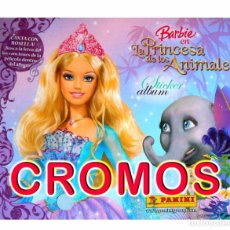 Coleccionismo Álbumes: LOTE 112 CROMOS BARBIE PRINCESA ANIMALES PANINI 2007 TAMBIEN SUELTOS. Lote 184627388
