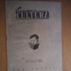 Coleccionismo Álbumes: ALBUM CROMOS CULTURA ALBUM PRIMERO. Lote 87545352