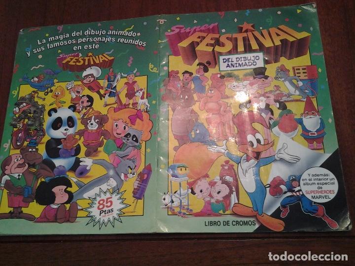 Coleccionismo Álbumes: SUPER FESTIVAL DEL DIBUJO ANIMADO - EDICIONES ESTE - ALBUM DE CROMOS - FALTAN EL 64 Y 99 - Foto 4 - 87743456
