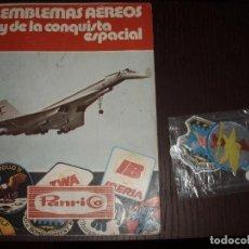 Coleccionismo Álbumes: EMBLEMAS AEREOS Y DE LA CONQUISTA ESPACIAL DONUTS PANRICO ALBUM. Lote 39374497