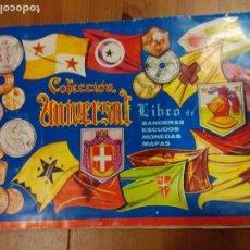 Coleccionismo Álbumes: ÁLBUM COLECCIÓN UNIVERSAL BANDERAS ESCUDOS MONEDAS MAPAS - FALTAN UNOS 15 CROMOS . Lote 89868812