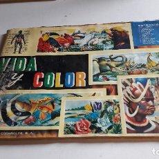 Collezionismo Album: ALBUM...VIDA Y COLOR...ALBUMES ESPAÑOLES S.A.....1967...INCOMPLETO... Lote 90630830
