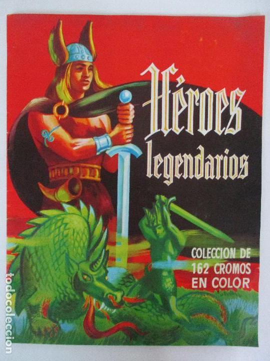 ÁLBUM DE CROMOS - HÉROES LEGENDARIOS - CHOCOLATES GLUKI - INCOMPLETA - FALTAN 3 CROMOS - AÑO 1969 (Coleccionismo - Cromos y Álbumes - Álbumes Incompletos)