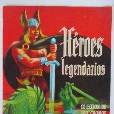 Coleccionismo Álbumes: ÁLBUM DE CROMOS - HÉROES LEGENDARIOS - CHOCOLATES GLUKI - INCOMPLETA - FALTAN 3 CROMOS - AÑO 1969. Lote 90929060