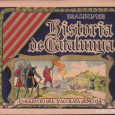 Coleccionismo Álbumes: ALBUM INCOMPLETO HISTORIA DE CATALUNYA CHOCOLATE JUNCOSA . Lote 92101750