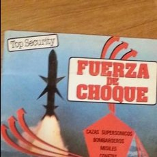 Coleccionismo Álbumes: ALBUM FUERZA DE CHOQUE. EDANSA 1984. INCOMPLETO. TIENE 150 CROMOS. Lote 92154820