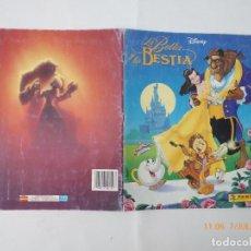 Coleccionismo Álbumes: ALBUN PANINI, LA BELLA Y LA BESTIA, FALTAN 61 CROMOS,. Lote 92405360