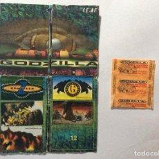 Coleccionismo Álbumes: ÁLBUM GODZILLA CHICLE HINCHABL + ENVOLTORIO . Lote 94842819