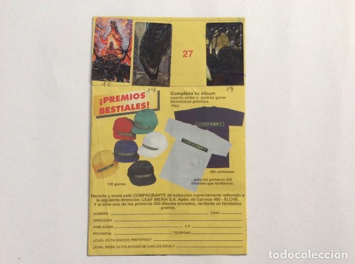Coleccionismo Álbumes: ÁLBUM GODZILLA CHICLE HINCHABLE - Foto 3 - 94843771