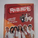Coleccionismo Álbumes: ALBUM DE FOTOGRAFIAS POSTALES REBELDE - COLECCIÓN OFICIAL CON 65 DE 72 FOTOS. SERIE DE TV. TDK312. Lote 95670223