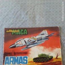 Coleccionismo Álbumes: ÁLBUM MAGA ARMAS 1974 VACÍO NUNCA SE PEGARON CROMOS (RARO) + CROMO DE REGALO. Lote 95697543