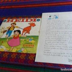 Coleccionismo Álbumes: CON CARTA DE PUBLICIDAD HEIDI INCOMPLETO FALTAN 21 DE 209 CROMOS. CLESA 1975. BUEN ESTADO.. Lote 95825495