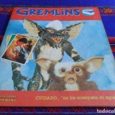 Coleccionismo Álbumes: MUY BUEN ESTADO. GREMLINS INCOMPLETO FALTAN 16 DE 180 CROMOS. PANINI 1984.. Lote 95826003
