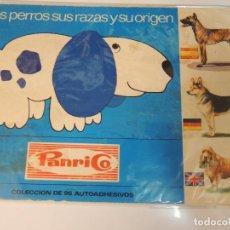 Coleccionismo Álbumes: ALBUM CROMOS LOS PERROS Y SUS RAZAS PANRICO AÑO 1972 DOGS INCOMPLETO FALTAN 2 CROMOS. Lote 96225799