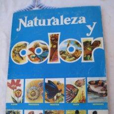 Coleccionismo Álbumes: ALBUM - NATURALEZA Y COLOR - INCOMPLETO : FALTAN 5 CROMOS.. Lote 96435303