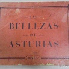 Coleccionismo Álbumes: JUAN GIL CAÑELLAS. LAS BELLEZAS DE ASTURIAS. ALBUM 1º. AÑO 1933. FALTAN 2 CROMOS. LEER. Lote 96482019