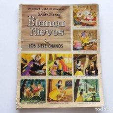 Coleccionismo Álbumes: ALBUM INCOMPLETO BLANCANIEVES 1970. BLANCA NIEVES, WALT DISNEY. VER IMÁGENES. Lote 96610183