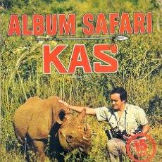 Coleccionismo Álbumes: ALBUM 1974 SAFARI KAS FHER. FELIX RODRIGUEZ DE LA FUENTE. ANIMALES AFRICA. FALTAN 13 DE 105. Lote 97122771