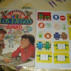 Coleccionismo Álbumes: LIBRO DE LOS JUEGOS BIMBO CON 107 CROMOS Y 13 FICHAS. Lote 97169527